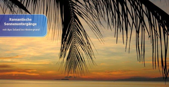 Sonnenuntergänge im Resort